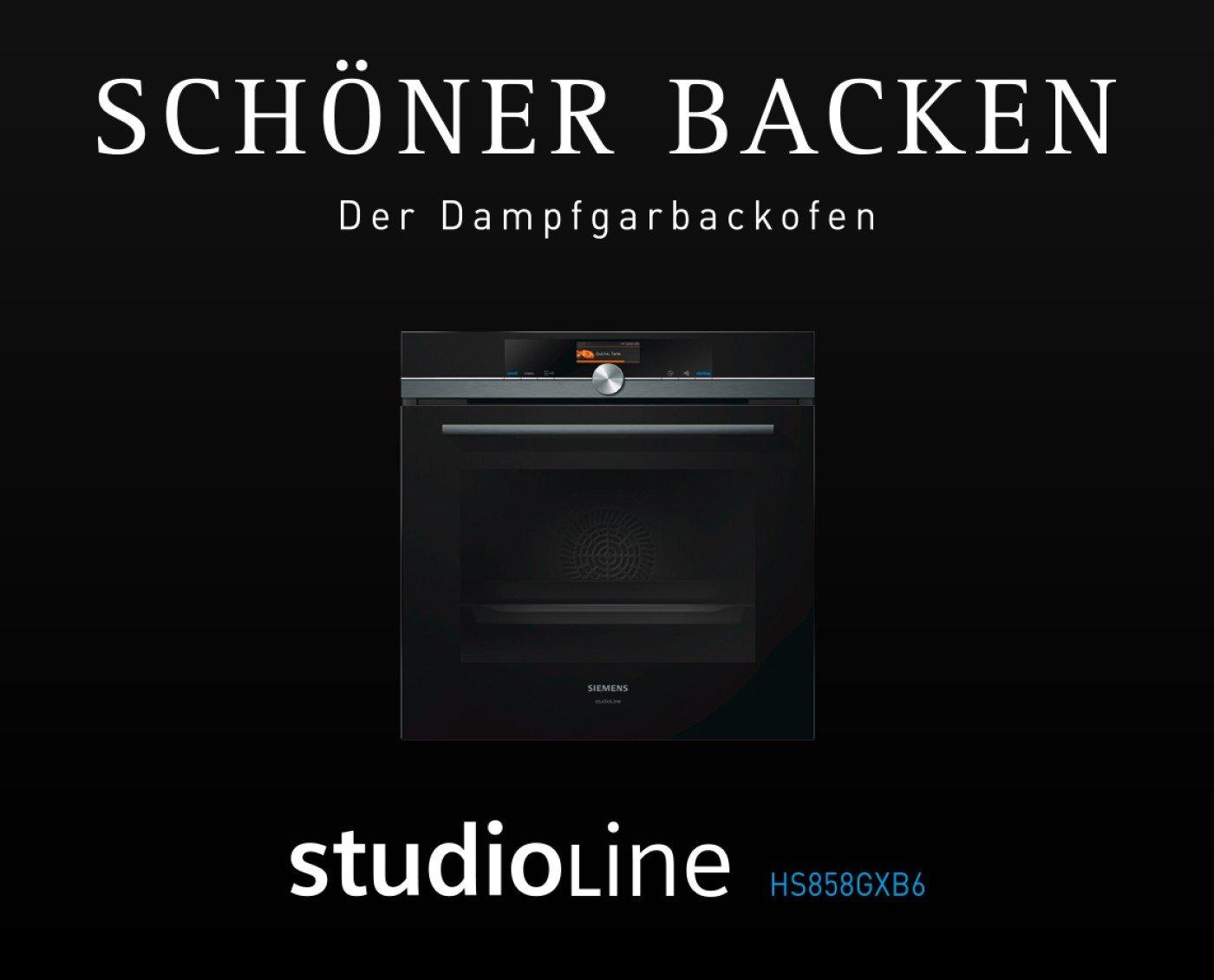 Studioline Dampfgarbackofen HS858GXB6