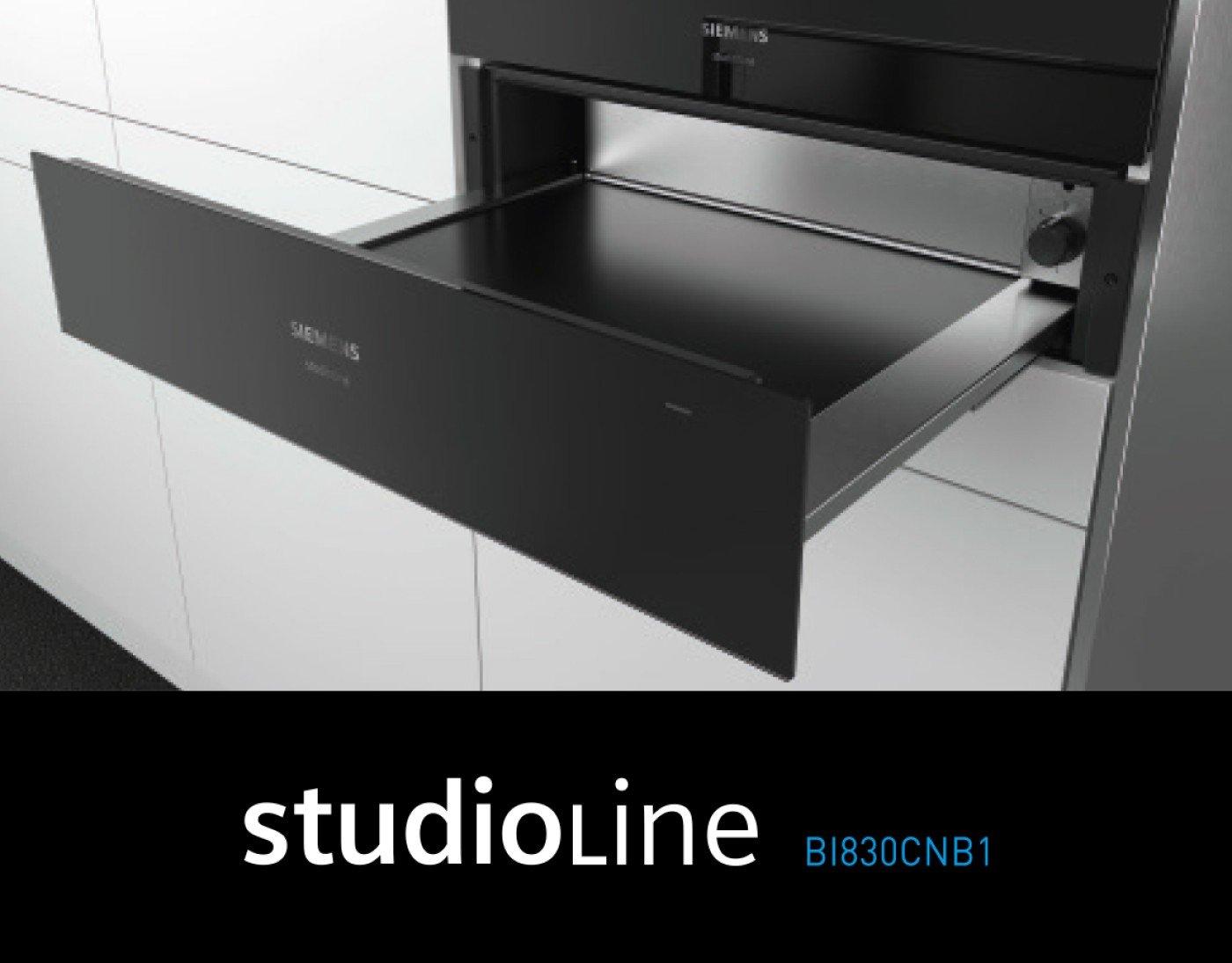 Optionale Wärmeschublade – Studioline BI830CNB1