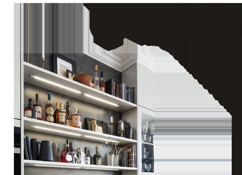 Ins rechte Licht gerückt: Beleuchteter Stauraum für Lieblingsstücke
