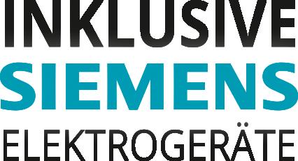 Inklusive Siemens Elektrogeräte