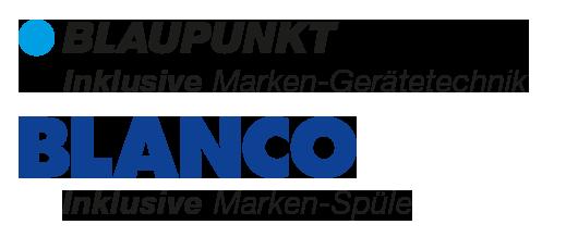 Inklusive Blaupunkt Marken-Gerätetechnik, inklusive Blanco Marken-Spüle.