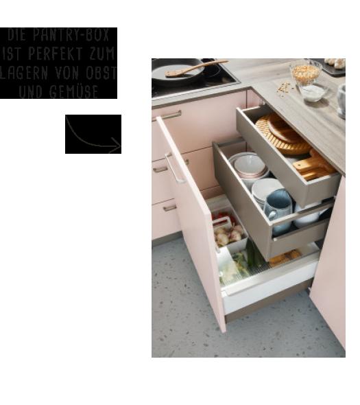 die Pantry-Box ist perfekt zum lagern von Obst und gemüse